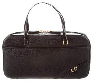 Christian Dior Textured Leather Handle Bag