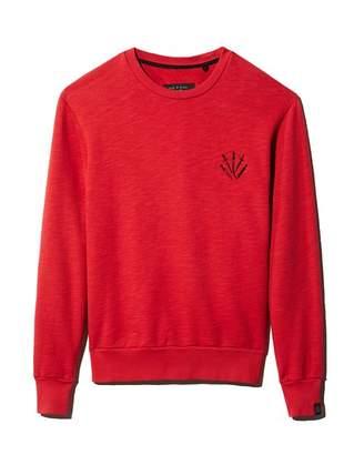 Rag & Bone Dagger Embroidered-Logo Sweatshirt