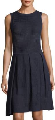 John & Jenn Mesh-Overlay A-Line Dress $129 thestylecure.com