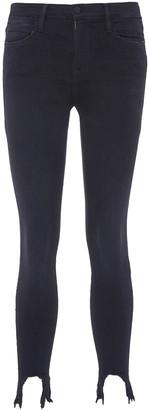 Frame 'Le High Skinny' shredded stiletto cuff jeans