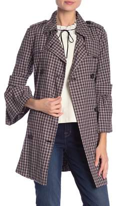 14th & Union Plaid Short Trench Coat