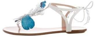 Aquazzura Fringe Thong Sandals