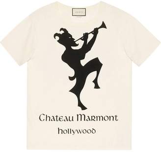Gucci Oversize t-shirt with Chateau Marmont print