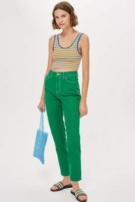 Topshop MOTO Green Mom Jeans