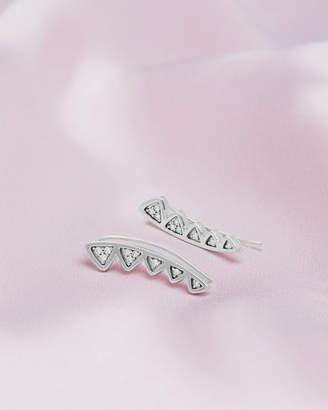 Ted Baker AVAR 9ct white gold and diamond crown earrings