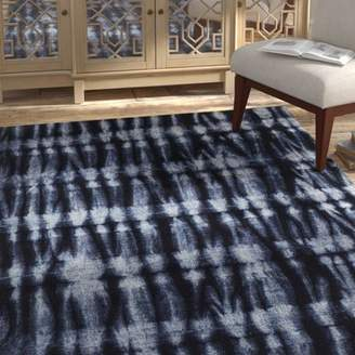 Bungalow Rose Freetown Resist Contemporary Modern Navy Area Rug