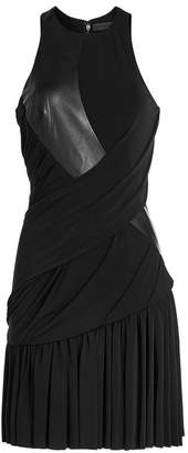 Alexander Wang Draped Dress with Leather