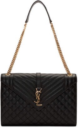 Saint Laurent Black Large Envelope Chain Bag