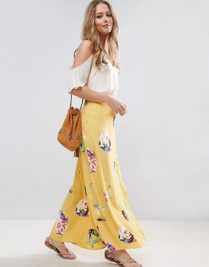 AsosASOS Wrap Maxi Skirt in Floral Print