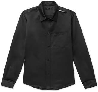 Balenciaga Slim-fit Satin Shirt - Black