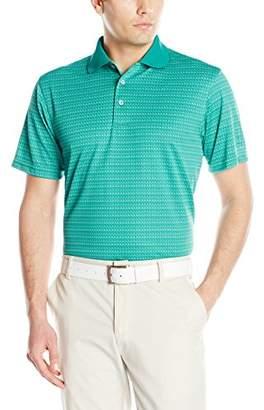 PGA TOUR Men's Short Sleeve Essential Jacquard Polo