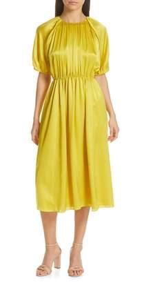Kate Spade Silk Open Back Midi Dress
