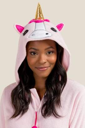 francesca's Unicorn Critter PJ One Piece - Pink