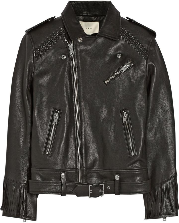 IRO Zerignola fringed leather jacket