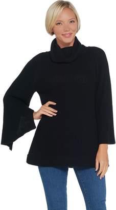 Halston H By H by Turtleneck Sweater w/ Split Sleeve