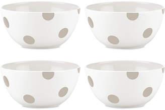 Kate Spade All in Good Taste Deco Dot 4-Pc. Beige All-Purpose Bowl Set