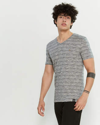 Kultivate Melange Open Pocket Short Sleeve Tee