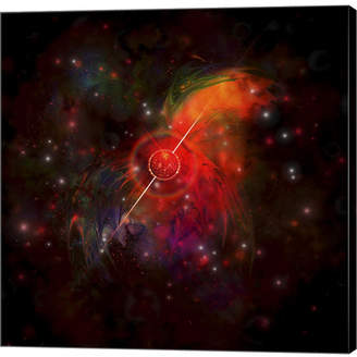 Pulsar Metaverse A Star Radiating Strong Beams of Light by Corey Ford,Stocktrek Images Canvas Art