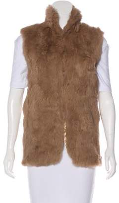Adrienne Landau Tailored Fur Vest