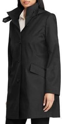 Lauren Ralph Lauren Petite Button-Front Walker Coat