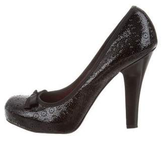 Marc by Marc Jacobs Laser Cut Round-Toe Pumps
