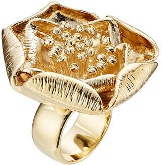 Aurelie Bidermann 18kt Yellow Gold-Plated Flower Ring