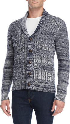 Barque Shawl Collar Marled Wool Cardigan