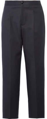 A.P.C. Amalfi Cropped Cotton-blend Straight-leg Pants - Midnight blue