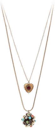 Betsey Johnson Crystal Ball Layered Pendant Necklace - Women's