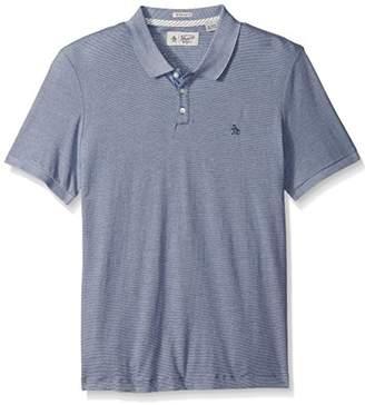 Original Penguin Men's Short Sleeve Jacquard Feeder Polo Shirt