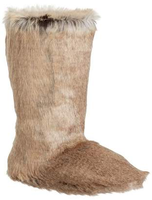 Pottery Barn Teen Wolf Faux-Fur Tall Booties, X-Large