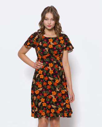 Moth And Flower Dress