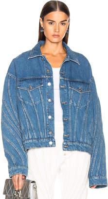 Thierry Mugler Oversized Denim Jacket in Medium Blue | FWRD