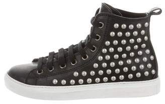 DSQUARED2 Studded High-Top Sneakers