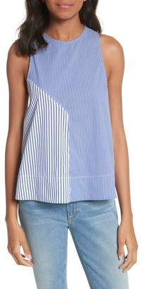 Tibi Colorblock Stripe Tank