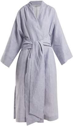 THREE GRACES LONDON Isabella striped linen robe