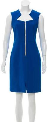 Yigal Azrouel Sleeveless Zip-Accented Dress