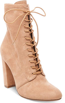 Steve Madden Women's Elley Lace-Up Block-Heel Booties $99 thestylecure.com