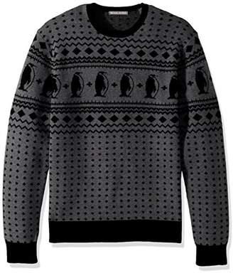 Michael Bastian Men's Long Sleeve Penguin Fairisle Crewneck Sweater