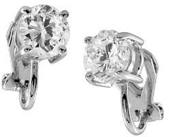 Carolee Faceted Stone Clip-On Earrings