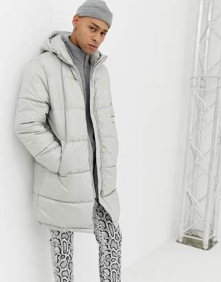 Cheap Monday Puffer Jacket In Gray