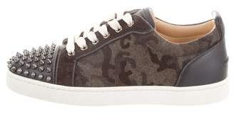 Christian Louboutin Camouflage Louis Junior Flat Sneakers