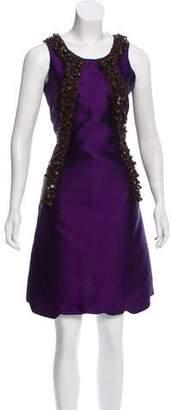 Miu Miu Beaded Silk Dress