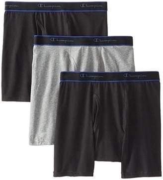 Champion Men's 3-Pack Performance Cotton Regular Leg Boxer Briefs