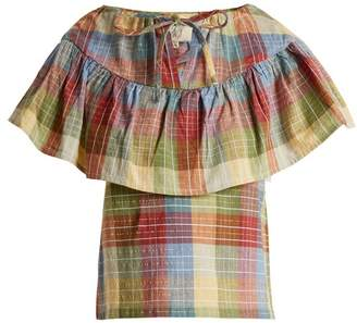 Ace&Jig Clifton Checked Cotton Blend Top - Womens - Multi