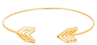 Lord & Taylor Gold Arrow End Cuff Bangle $75 thestylecure.com