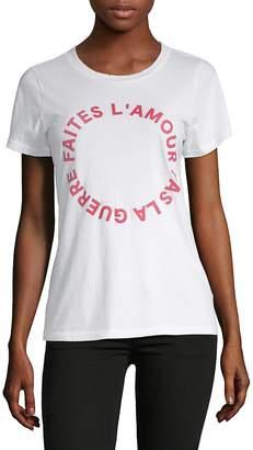 French Connection Women's Faites L'Amour Cotton Tee