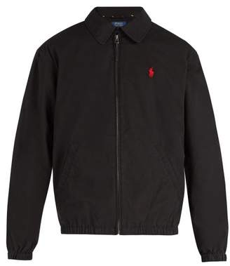 Polo Ralph Lauren Harrington Logo Embroidered Cotton Jacket - Mens - Black