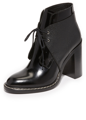 MM6 Lace Up Booties $665 thestylecure.com