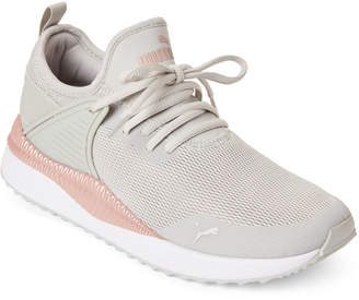 Puma Grey Violet & Rose Gold Pacer Next Cage Low-Top Sneakers